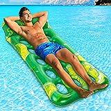 lenbest Wasserhängematte, Aufblasbare Pool-Schwimm-Hängematte mit Löchern, Poröse Luft, Leichte Schwimmsessel-Bett-Floß-Liege und Tragbare Pool-Strand-Whirlpool-Matte für Kinder und Erwachsene