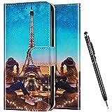 Uposao Kompatibel mit Samsung Galaxy A70e Hülle Leder Handyhülle Schutzhülle Bunt Cartoon Muster Flip Wallet Bookstyle Case Tasche Lederhülle Klapphülle Magnet Kartenfächer,T