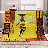 BLZQA Kuscheldecke Flanell Fleecedecke Indischer Stil Wohndecke Sofadecke Couchdecke Bettüberwurf Flauschige Weiche& Warme Sofaüberwurf Decke-130 x 150 cm