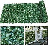 TREEECFCST Künstliche Garten Sichtschutz Künstlicher Zaun Gartenzaun Dekorative Zäune Brett Anti Starke Hellgrüne Matte Artificial Hedge F00624