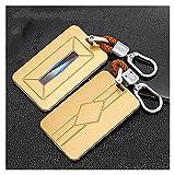 WRDD Autoschlüssel Schlüssel Hülle Schlüsselanhänge r Tragbare Autokarte Key Case Cover Bag Für BMW 1 3 5 7 Serie X1 X3 X 5 X6 X7 F30 G20 F34 F31 G30 G01 F15 G05 I3 M4 Auto Hülle (Farbe : Gelb)