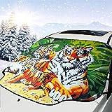 GAHAHA Windschutzscheiben-Schnee-Abdeckung, Motiv: Dschungel, Tiger, wasserdicht, Frostschutz für Auto, Winterfahrzeuge, Schatten, Outdoor, Windschutzscheiben, 147 x 118