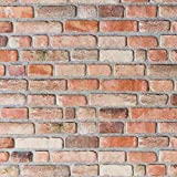 Wandverkleidung Steinoptik / Holzoptik - 3D Wandpaneele aus EPS Schaumstoff / Styropor - Kunststoff Steinpaneele (HD Printed) - Wandplatten / Wandverblender für Innen (Mischfarben, Rot)