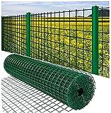 Maschendraht Zaun Elektrische geschweißte Zaun Hardware Tuch Grüne Vinylbeschichtung Metalldrahtgeflecht für Geflügel, Lakeside Gärten, Yards, große Baumzäune zum Schutz