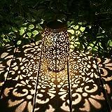 Solar Laterne Lichter für hängende Outdoor-Ornamente Geschenk Outdoor-Dekoration Tischlaterne Solar Silber Licht Wasserdichte Solar Lampe Dekorative Solarbetriebene Laternen für Garten,Terrasse,H