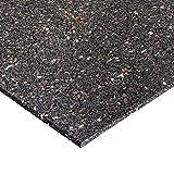 ANRO Antivibration Matte Bautenschutzmatte Antirutschmatte Fallschutzmatten Terrassenpads Gummi schwarz 400x400x10mm
