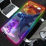 Mauspads Destiny RGB Mauspad XL LED Gamer Computer Gaming Mauspad Hintergrundbeleuchtung Laptop Matte für PC Tisch rutschfest 600x300x4mm