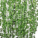 Künstliche Efeugirlande für Hochzeitsbankett Garten Wanddekoration Verschönern Zaun 12 Packungen 84Ft