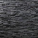 EPS-Schaumstoff Verblendsteine Tasso Ultraleicht - Wanddekoration / Fliesen / Verblendstein / Wandplatten (schwarz)