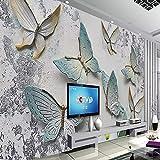 HGFHGD Selbstklebende 3D Wallpaper Wandbild Schmetterling Dreidimensionale Relief TV Hintergrundwand Wohnzimmer Wandaufkleber Wandkunst