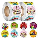 FANDE Alles Gute zum Geburtstag Etiketten, 1000 Etiketten selbstklebend, zum Basteln Verzieren Geburtstag Geschenke Verpackung Geschenkverpackung, 1 Zoll-Runde