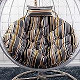 XiXiBoom Falten Lounge-Stuhl Waschbar Stuhlkissen,Große Nicht-Slip Stuhlauflage Zu Single Swing Hängendes Korbsofa,Swing Stuhlauflage-J Diameter:120cm(47inch)