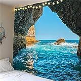YYRAIN 3D-Druck Strand Meer Landschaft Digitaler Polyester Wandteppich Kann Als Wohnzimmer Schlafzimmer Wandteppich Verwendet Werden Wall 90x70 Inch {230x180cm}