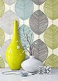 Tapete Natur Modern Blumen Floral   schöne edle Tapete im natürlichen Design   moderne 3D Optik für Wohnzimmer, Schlafzimmer oder Küche inkl. Newroom-Tapezier-Profibroschüre mit super Tipps!