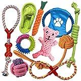 TINGERIA® Classic, Hundespielzeug für kleine & mittelgroße Hunde, 10-teiliges Welpenspielzeug Set, Hunde Spielsachen Zubehör, interaktive Hunde Spielzeug Intelligenz