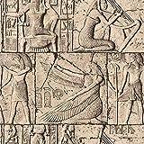 10 x 0,53 m 3D Ägyptische Steinschnitzerei Wasserdichte geprägte strukturierte PVC-Tapete Rolle für Schlafzimmer Wohnzimmer 5 x 3 m