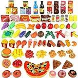 joylink Küchenspielzeug, 139 Teile Plastik Essen Spielzeug Obst Gemüse Ebensmittel Küche Kinder Pädagogisches Lernen Spielzeug Küchen Spielzeug Set Play Kinder Rollenspiele Spielzeug