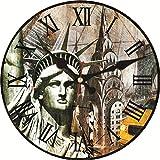 New York City Vintage große Uhr Non-Ticking Silent runde Wanduhr USA Chrysler Building Shabby Clock Retro-Uhren-34