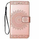 Hancda Hülle für iPhone 8 / iPhone 7, Handyhülle Tasche Hülle Flip Case Leder Schutzhülle Ledertasche Cover, Handytasche Lederhülle Brieftasche Geldbörse Magnet Case für iPhone 8/iPhone 7 - Rose Gold