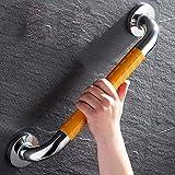 ZCJH Dusche Haltegriff, Edelstahl-Badezimmer-Sicherheit Haltegriff Griff, Wandmontage Handtuchhalter Profi-Assist Bad Griff (Size : 38cm)