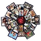 VEESUN Explosionsbox Geschenkbox mit 6 Gesichtern, Kreative Überraschung Box DIY Fotoalbum, Jahrestag Geburtstags Muttertag Valentine Hochzeit Personalisierte Geschenk Frauen Freund, Schwarz, MEHRWEG