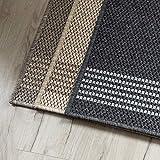 Teppich-Läufer Natura in Sisal-Optik | Hochwertige Verarbeitung | Tiger-Eye Struktur | Erhältlich in 3 Farben & vielen Größen | Langlebig & strapazierfähig (80 x 150 cm, Beige)