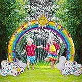 QHWJ Wasserspray-Spielzeug Großer aufblasbarer Regenbogen Sprinkler Outdoor Wasser Spielen Torbogen Sprinkler, Sommer Splash Spielzeug für den Außenbereich, Hinterhof, Rasen, Garten