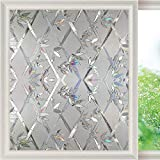 LMKJ 3D Regenbogen Fensterfolie Nicht geklebte Glasfolie, opake elektrostatische Frischhaltefolie dekorative Glasaufkleber A31 50x200cm