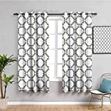 ZLYYH Verdunkelungsvorhänge Farbe Kreis Mode Muster 117x138cm Verdunkelungsvorhänge für Schlafzimmer, schalldicht, wärmeisoliert, Vorhänge für Wohnzimmer, Fenster, Vorhänge, 2 Paneele, Ösen, für Licht