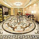 3D Bodenfliesen Wandbild Tapete Marmor Pattrern Bodenaufkleber im europäischen Stil PVC Selbstklebende wasserdichte Wohnzimmer 3D Aufkleber-350 * 275cm