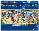 Ravensburger Puzzle 15109 - Disney Gruppenfoto - 1000 Teile Puzzle für Erwachsene und Kinder ab 14 Jahren, Disney Puzzle im Panorama-Format