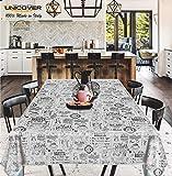 Unicover Tischdecke, Wachstuch, Coffee Shop, hergestellt in Italien. 140 x 140 cm