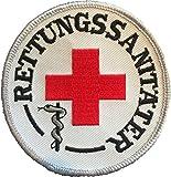 Rettungssanitäter Stoffaufnäher/Patch (8cm Durchmesser)|Rettungsdienst |DRK |Malteser |Johanniter |ASB |BRK