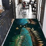 Kunsen Treppen Luxus-Innenraum-Dunkelgrün-Einstufung-Guthaben_200x200 cm. Teppich dick Waschbare und Pflegeleichte dekorative Teppiche Wohnzimmergroßer Teppich Schlafzimmer rutschfes6ft 7''X6ft 7''