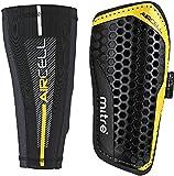 Mitre Aircell Pro Slip mit Kompressionsmanschette Fußballschienbeinschoner, Black/Yellow, L