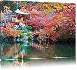 Wunderschönes Kloster in Japan Format: 60x40 auf Leinwand, XXL riesige Bilder fertig gerahmt mit Keilrahmen, Kunstdruck auf Wandbild mit Rahmen, günstiger als Gemälde oder Ölbild, kein Poster oder Plakat