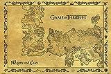 Game of Thrones Poster - Westeros & Essos Karte Antik