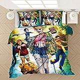 KIrSv Harry 3D Bedruckter Kissenbezug mit bedrucktem Muster, Einzelbett mit Kingsize-Doppelbett, Favorit für Jungen und Jugendliche, weiches und bequemes Bettwäscheset - 200 x 229 cm (3 Stück) _4