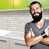 StickerProfis Küchenrückwand selbstklebend Pro GEKALKTE Wand 60 x 280cm DIY - Do It Yourself PVC Sp