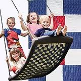 Große Mehrkindschaukel STANDARD weiß/rot/blau für 4 Kinder, 136 x 66 cm (SPR.L.109) - das Original direkt vom Hersteller die-schauk