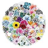 Hao-zhuokun 100 Stück Blumenaufkleber Niedlich,wasserdicht,ästhetisch,extra haltbare Vinyl-Aufkleber,Trendige Aufkleber für Teenager,perfekt für Laptop,Wasserflasche,Telefon,Skateboard,Reisen