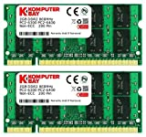 Komputerbay 4GB 2X2GB DDR2 800MHz PC2-6300 PC2-6400 (200 PIN) SODIMM Laptop-Sp