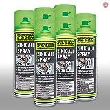 Petec_bundle 6X PETEC Zink-ALU Spray Zinkspray Grundierung Korrosionsschutz 500 ML 71050