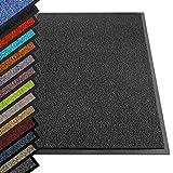 etm® Schmutzfangmatte - Note 1,6: Sieger Preis-Leistung - Fußmatte in vielen Größen - Türmatte Fußabstreifer für Haustür innen und außen (Anthrazit-Schwarz, 120x180 cm)