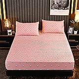 YFGY Antiallergischer Matratzenbezug Mit Schlitz Single 135 * 200cm, Cartoon Baumwolle Bettwäsche Spannbetttücher, Matratzenschoner für Kinder Schlafzimmer Wohnheim Pink