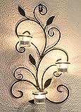 DanDiBo Wandteelichthalter 131004 Teelichthalter aus Metall 45 cm Wandleuchter Kerzenhalter