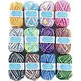 SOLEDI Häkelgarn 12 Farben * 50g Wolle Zum Häkeln Acryl Wolle Serie Einweg Handstrickgarn Baumwollgarn für Häkeln und Kunsthandwerk, 12 Farben