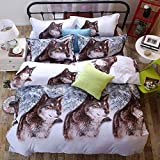 Bedclothes-Blanket Mikrofaser Bettbezug mit,Vier-Teile 3D-Bett-Bett-Abdeckung von Vier-teiliger lila Lilie-Bettwäsche-N_1,8m Bett