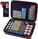 Batterie-Organizer, 200+ Batterien, Aufbewahrungsbehälter mit Tester BT-168. Garage Gadget Organisation hält AA AAA C D Zelle 9V 3V Lithium LR44 CR2 CR1632 CR2032 Knopfbatterien
