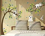 luckkyy Koala Ast und Baum Wallsticker für Kinderzimmer Schlafzimmer Wand Decor, multi, 80'W x 112'H